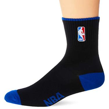 NBA Meia Cano Medio, 39 - 43, Preto com Azul