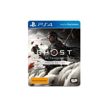 Game Ghost Of Tsushima Special Edition - PS4 - Playstation 4 - Steelbook
