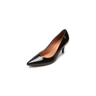 Sapato Scarpin Vizzano Verniz Salto 3cm Preto 1122628