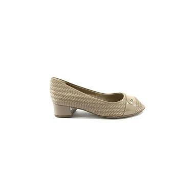 Sapato Peep Toe Piccadilly 114026-1 Areia