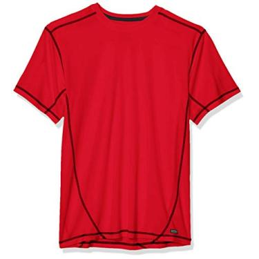 Imagem de Camiseta masculina Smith's Workwear Performance Contrast Crew, Red/Black, Medium