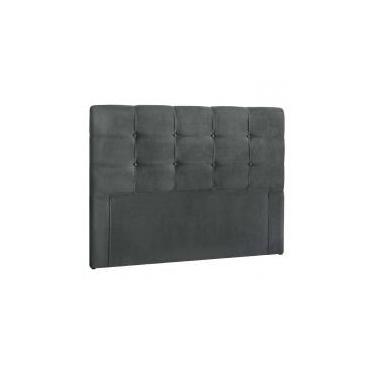 Cabeceira Para Cama Box Casal Clean 1400mm - Suede Cinza Escuro - Simbal Celta moveis