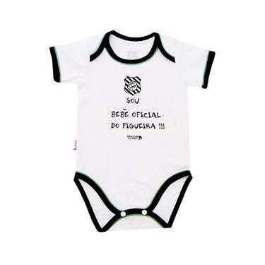 30fcd9e25 Body Bebê Oficial Meia Malha Unissex Figueirense Reve Dor