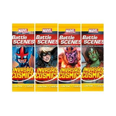 Imagem de Pack de cartas Marvel Battle Scenes: Invasão Cósmica em português