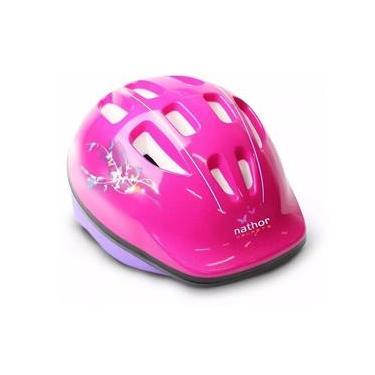 Capacete Para Ciclista Rosa/Roxo Nathor