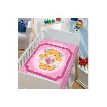 Cobertor De Bebê Tradicional Eu Amo Mamy Jolitex Ref:07.0130 90 X 1,10
