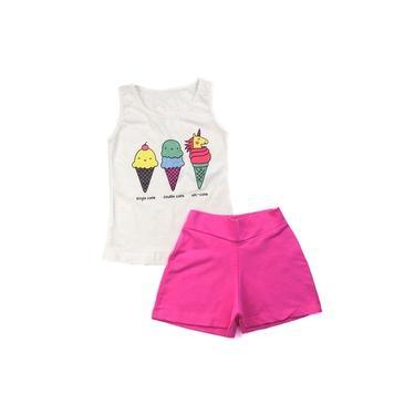 Conjuntos Femininos Infantil Blusa Regata Menina Verão Kids