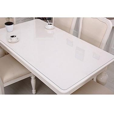 Imagem de Outgeek Toalha de mesa de plástico retangular protetor de mesa à prova d'água para cozinha