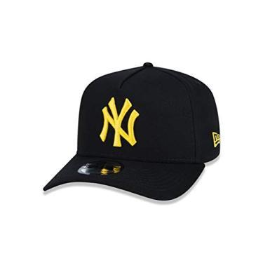 BONE 9FORTY A-FRAME ABA CURVA AJUSTAVEL MLB NEW YORK YANKEES ABA CURVA SNAPBACK PRETO NEW ERA