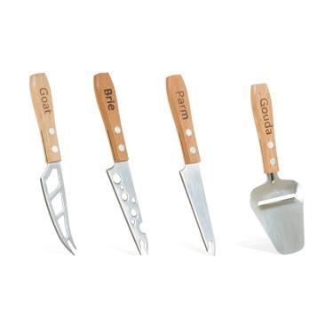 Imagem de Conjunto de 4 Facas para Queijo em Madeira Boska