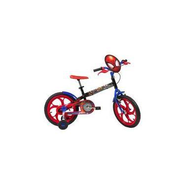 Bicicleta Infantil Caloi Spider Man Marvel - aro 16 - Preto/Vermelho Modelo 2020