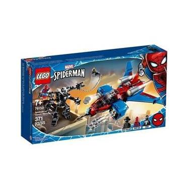 Lego Marvel Homem Aranha 76150 Spiderjet Vs Robo Venom 371Pc