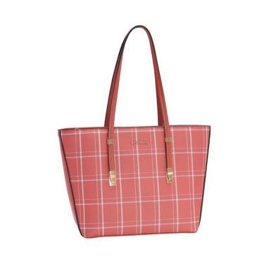 Bolsa Feminina Chenson Xadrez Lady Coral 3483204  feminino