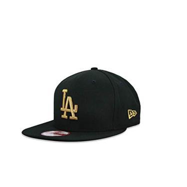 BONE 9FIFTY ORIGINAL FIT ABA RETA AJUSTAVEL MLB LOS ANGELES DODGERS ABA RETA SNAPBACK PRETO NEW ERA