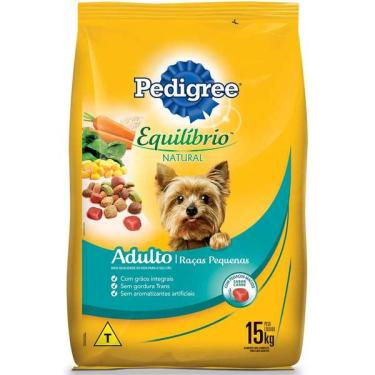 Ração Pedigree Equilíbrio Natural para Cães Adultos de Raças Pequenas - 15 Kg