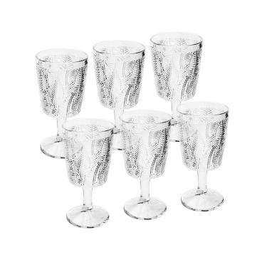 Jogo de taças em vidro Bon Gourmet Leaves 320ml 6 peças