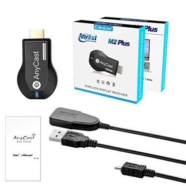 Kaczmarek TV Stick 1080P Wi-Fi sem fio Display TV Dongle Receiver para AnyCast M2 Plus para Airplay 1080P HDMI TV Stick