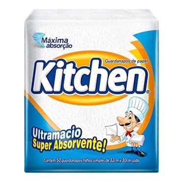 Guardanapos de papel Kitchen Folha Simples, 50 unidades de 33x30 cm