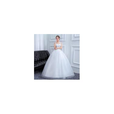 Imagem de Vestido de noiva Plus Size branco Alças ajustáveis nas costas respirável e Magro I11