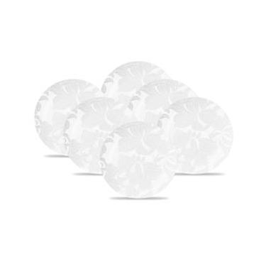 Conjunto de Pratos para Sobremesa Oxford Porcelanas Blanc 21 CM em Porcelana EM18-4787 - 6 Peças