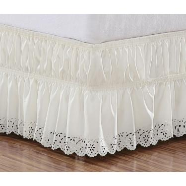 Imagem de Saia para cama box casal padrão Perolla