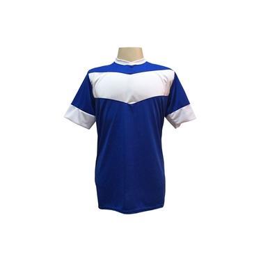 Jogo de Camisa com 18 unidades modelo Columbus Royal/Branco +