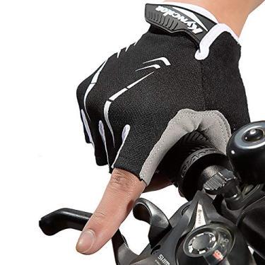 Luvas Esportivas, Romacci Luvas de ciclismo Luvas de esporte de escalada para bicicleta de escalada com meio dedo anti-derrapante à prova de agitação à prova de vibração