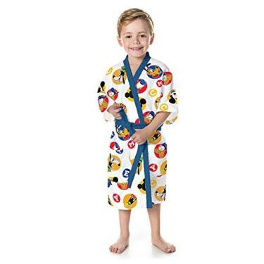 Roupão Felpudo Infantil Quimono Estampado Mickey M com 1 Peça - Lepper