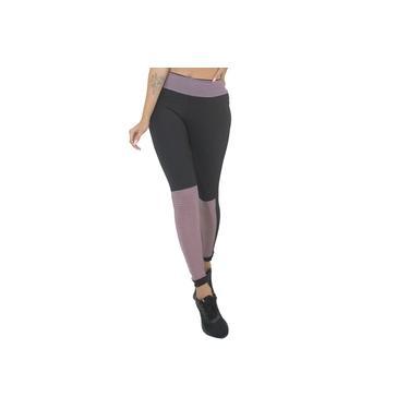 Imagem de Calça Legging Preta com Detalhe Feminino Violeta GR Esporte
