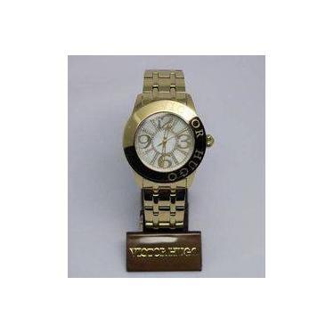 791d7d052a7 Relógio Feminino Victor Hugo Vh10132lsg 28m Redondo Dourado