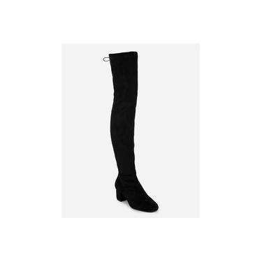 Bota Feminina Cano Longo Over The Knee Zatz Salto Grosso Amarração