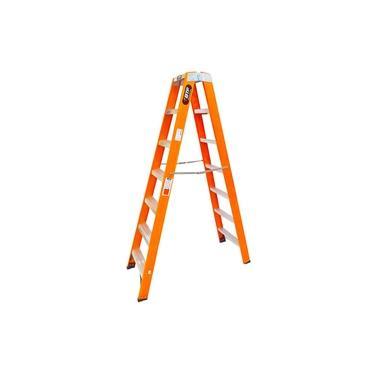 Imagem de Escada de Fibra Duplo Acesso Tesoura PROF Robusta 7 Degraus