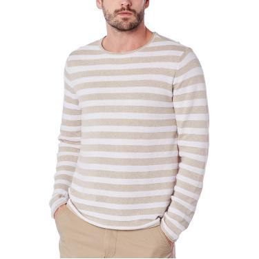 Imagem de Blusão Masculino Listrado Em Tricô De Algodão Hering, Rosa, M