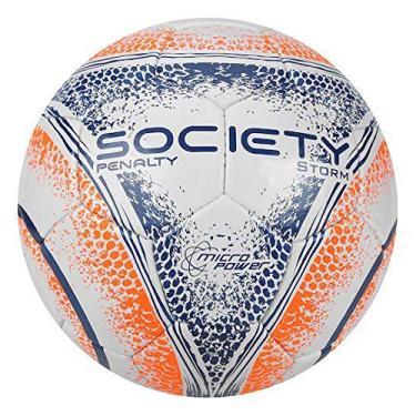 Bola Society Storm CC Mao VIII Penalty - Branco Laranja Azul 7917114374679