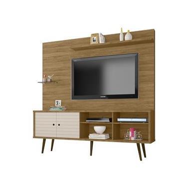 Estante Home para Tv Até 47 Polegadas 1 Porta Basculante Taurus Cinamomo/Off-White - Moveis Bechara