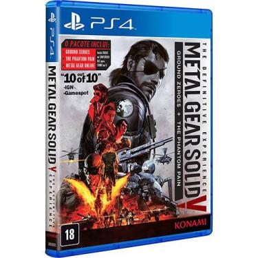 Game Metal Gear Solid V The Definitive Experience: Ground Zeroes + The Phantom Pain - PS4