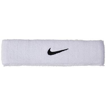 Testeira Swoosh Headband Adulto Nike White/Black