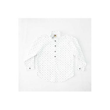 Camisa Social Manga Longa Estampada Branco Lazy Infantil 30