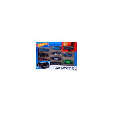 Imagem de Carrinho Hot Wheels Veículo Básico Kit 10 Unidades Brinquedo Miniatura Presente Menino Hotwheels