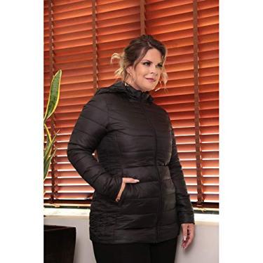 Casaco Plus Size De Nylon Com Capuz Cpsi80562 Off white G1