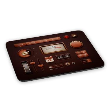 Mousepad Aparelho de Som Antigo Amplificador Retrô Vintage