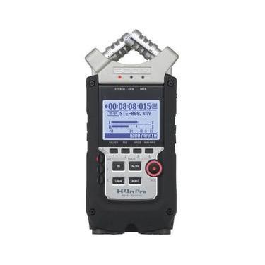 Gravador Digital Zoom H4n Pro de 4 Entradas / 4 Faixas com Sistema de Microfone X/Y