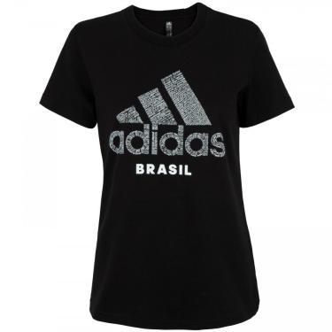 Camiseta adidas Brasil Scrawl - Feminina Nike Feminino