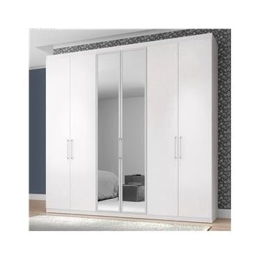 98bd5cd86 Guarda-Roupa Bartira Maceió com 6 Portas e Espelho