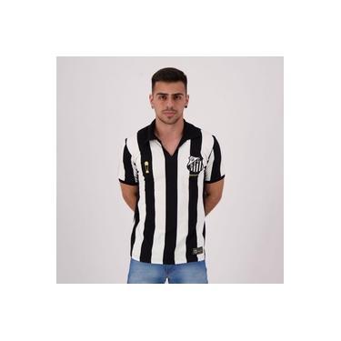 Camisa Santos Retrô Bimundial Listrada
