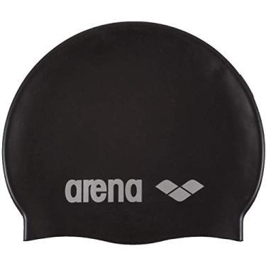 Arena Touca Classic Silicone, Preto/ Prata