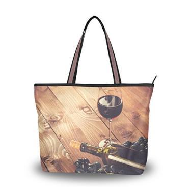 Bolsa de mão Cooper Girl vinho tinto e uva com alça superior bolsa de ombro grande capacidade, Multi, Medium