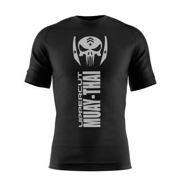 Uppercut Camisa Muay Thai War Dry Tech UV-50, P, Preta