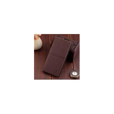 Carteira masculina longa carteira da moda europeia e americana nova carteira retro