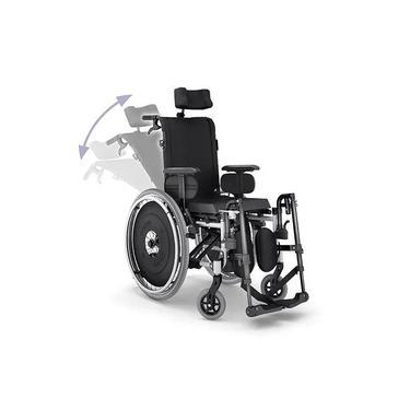 Imagem de Cadeira De Rodas Avd Reclinável Preta Assento 38 Ao 50 Cm - Ortobras